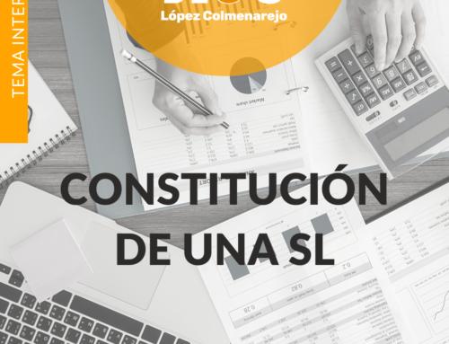 CONSTITUCION DE UNA SL